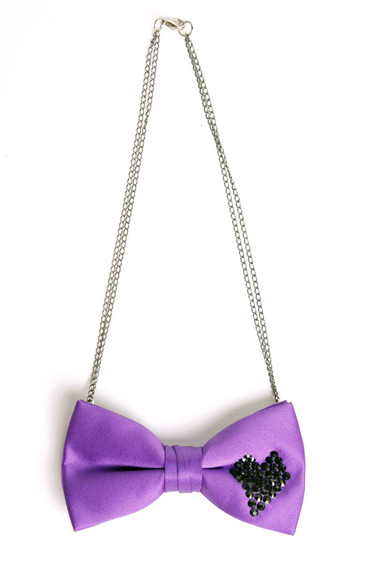 hearts jewels purple purple bow bow necklace bows