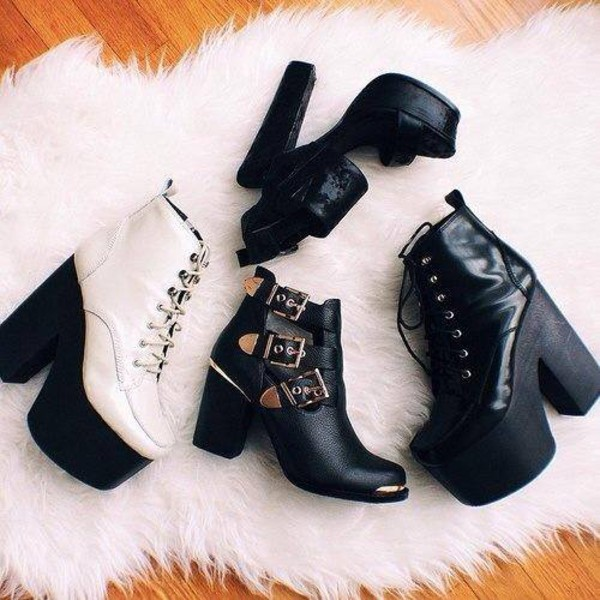 shoes boots cut-out cut out ankle boots platform high heels