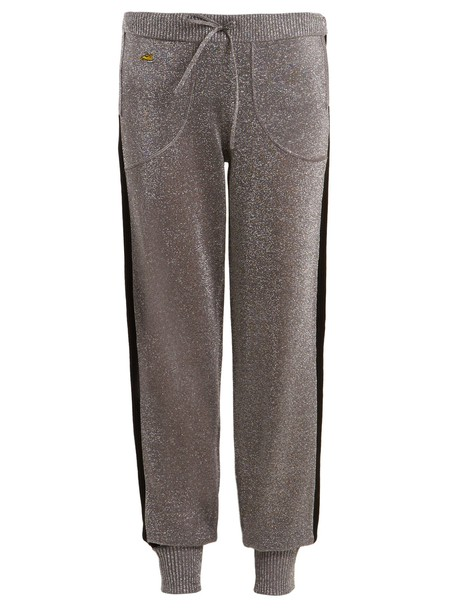 Bella Freud pants track pants wool silver