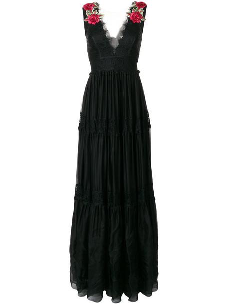 PHILIPP PLEIN dress evening dress women lace black silk