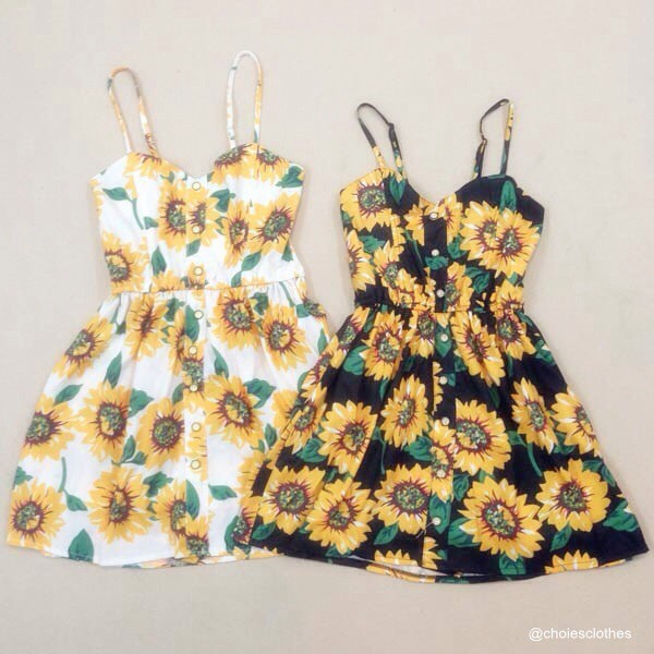 dress floral dress sunflower dress ariana grande