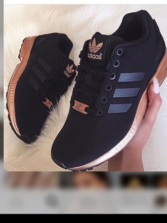 shoes adidas torsion rose gold and  black