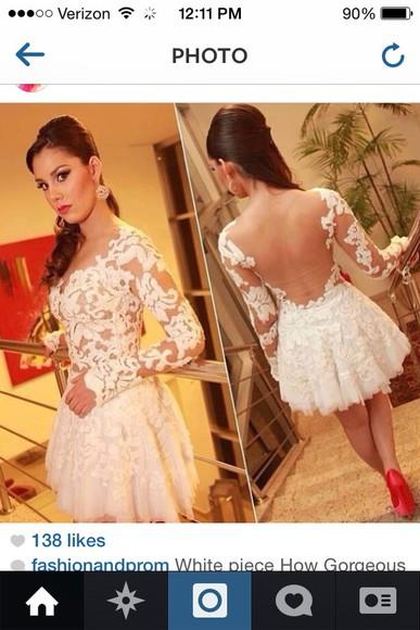 dress white dress white homecoming dress
