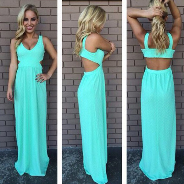 Turquoise clarity maxi dress