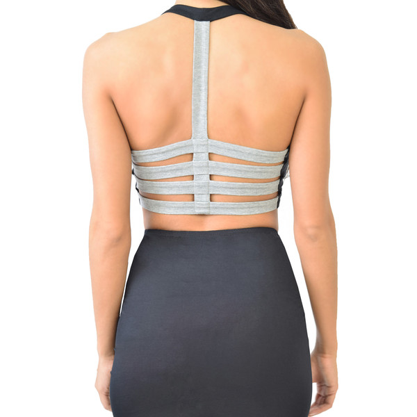 Cage Back Crop Top | Emprada