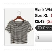 t-shirt,black and whit stripe t-shirtt
