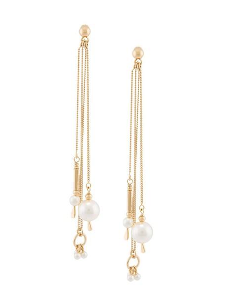 Chloe earrings white jewels