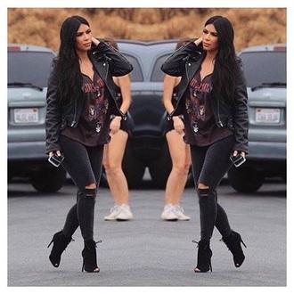 jacket kim kardashian leather jacket kardashian kollection beautiful sexy