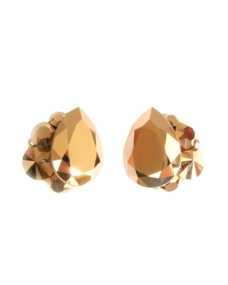 Crystal Cluster Earrings – Rose Gold   | April Soderstrom Jewelry