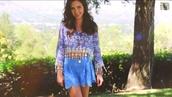 skirt,cropped,blue skirt,ryan newman,youtube,blue shirt,blouse