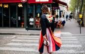 jacket,tumblr,puffer jacket,black jacket,bomber jacket,black bomber jacket,skirt,mini skirt,stripes,striped skirt,multicolor,bag,pink bag