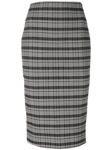 Victoria Beckham skirt pencil skirt women spandex plaid black wool