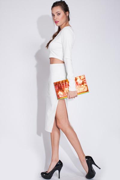 Classic white skirt set · trendyish · online store powered by storenvy