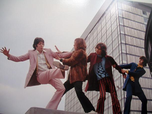 pants orange green george harrison the beatles ringo starr striped pants 60s style hippie