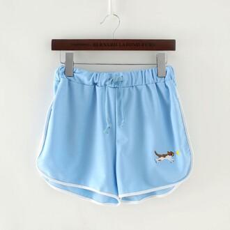 shorts blue trendy fashion style cute summer spring sporty sportswear teenagers cats boogzel