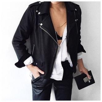 jacket black jacket black casual classy