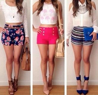 shorts floral shorts shirt