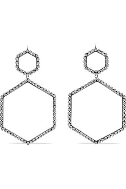 Isabel Marant crystal earrings earrings silver jewels