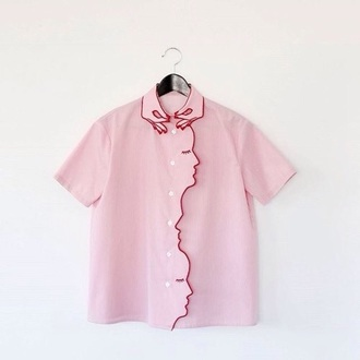 blouse pink cute girly