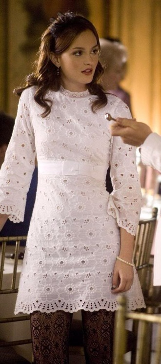 dress blair waldorf gossip girl blair dress gossip girl gossip girl fashion white lace dress