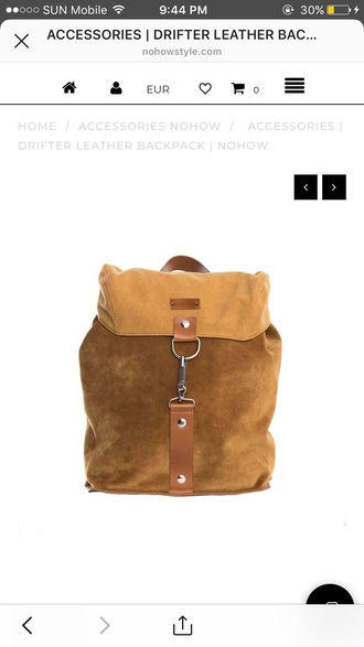 bag suede drifter bag with leather straps