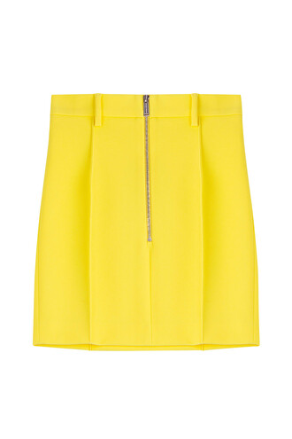 skirt mini skirt mini cotton yellow