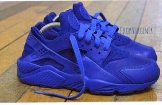shoes blue huarache nike style cute