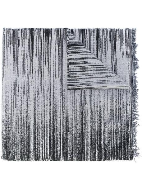 women scarf cotton black wool