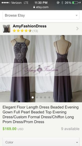 grey dress long prom dress formal dress bridesmaid evening dress