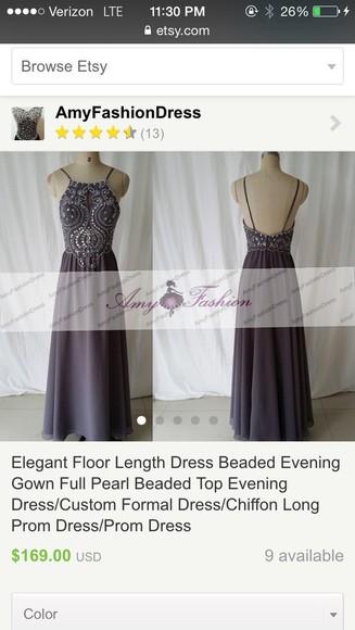 evening dress formal dress bridesmaid grey dress long prom dress