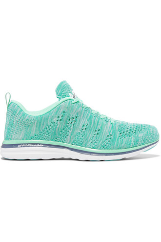 mesh sneakers turquoise shoes