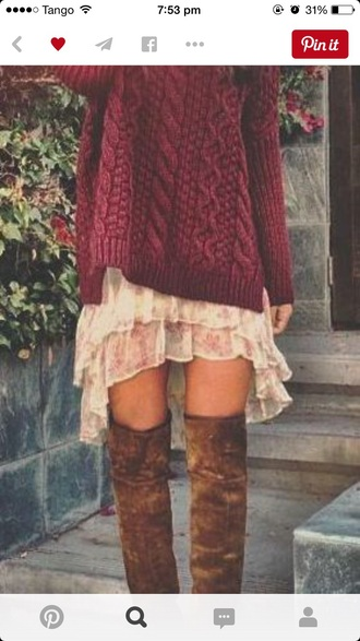 dress bohemien native american beautiful red dress laces boots wow i need it now brown combat boots red dress white dress sweater shoes