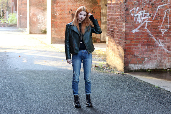 blogger perfecto rock jeans hannah louise fashion