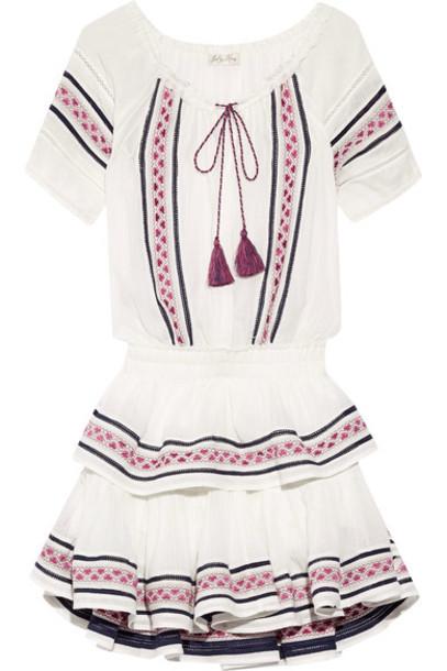 dress mini dress mini embroidered white cotton
