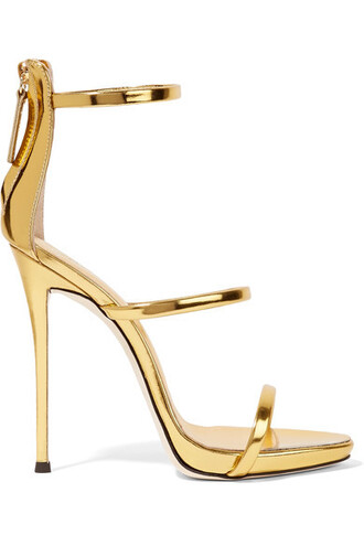 metallic sandals leather sandals gold leather shoes