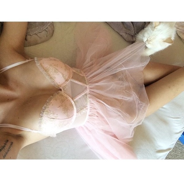 blouse lingerie lingerie set pink dress