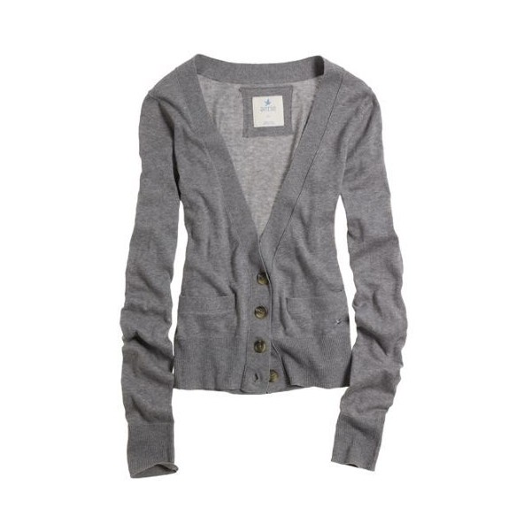 2e8caa585 Women's Aerie V-Neck Cardigan (Dark Heather Grey) - Polyvore