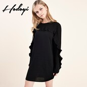 dress,lookbook store,oversized cardigan,sheath,bonny,black dress