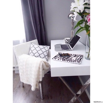 home accessory white chair chair girly desk