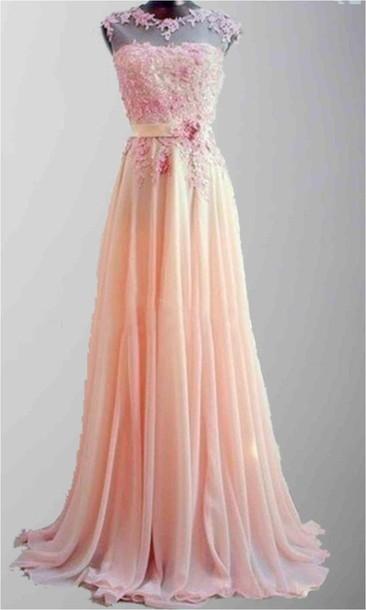 Dress Pink Dress Lace Dress See Through Dress Pink Floral Lace