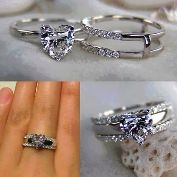 diamond jewels ring clear silver rings