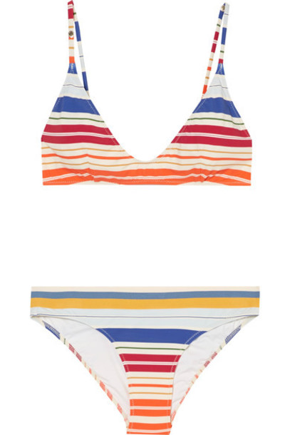 Stella McCartney bikini triangle bikini triangle white swimwear