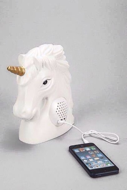 home accessory unicorn technology girly speaker