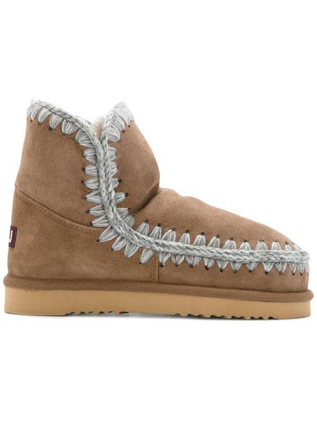 women wool brown shoes