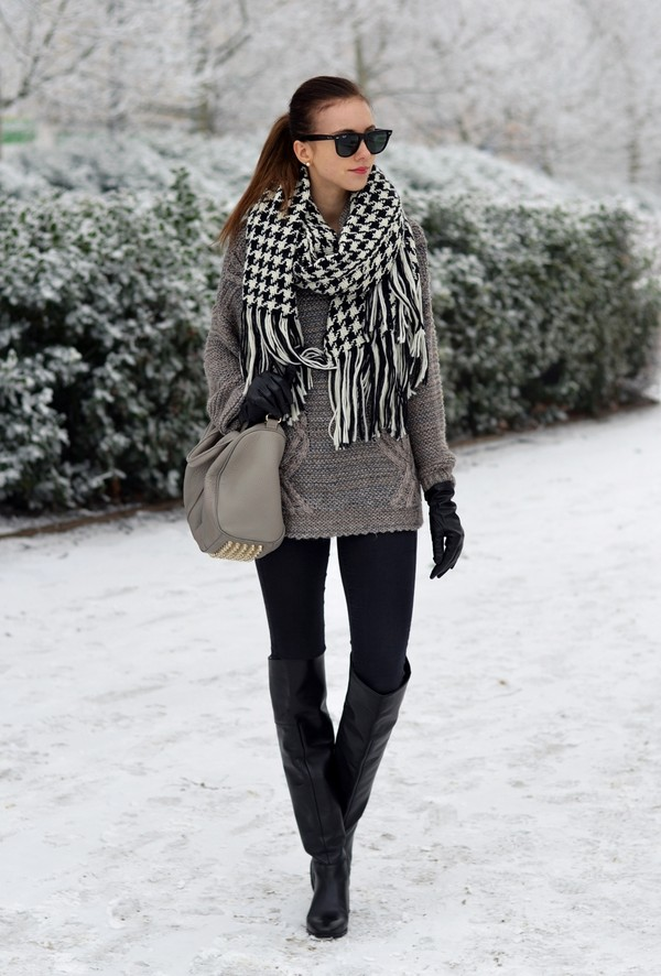 vogue haus sweater jeans shoes bag scarf sunglasses