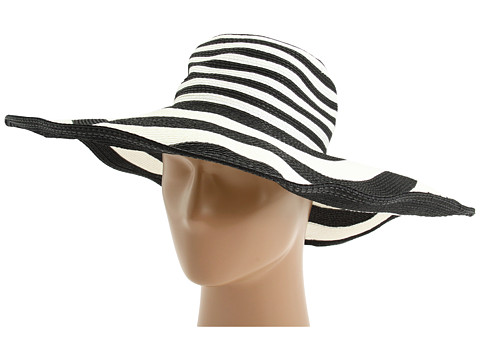 San Diego Hat Company PBX2984 Paperbraid XL Brim Striped Sun Hat Black/White - Zappos.com Free Shipping BOTH Ways