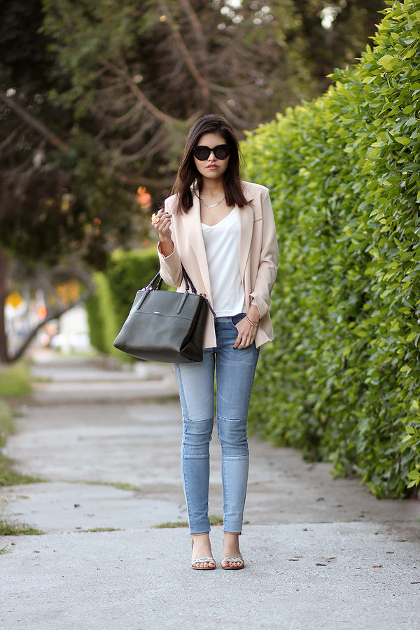 fake leather jacket jeans bag shoes sunglasses jewels
