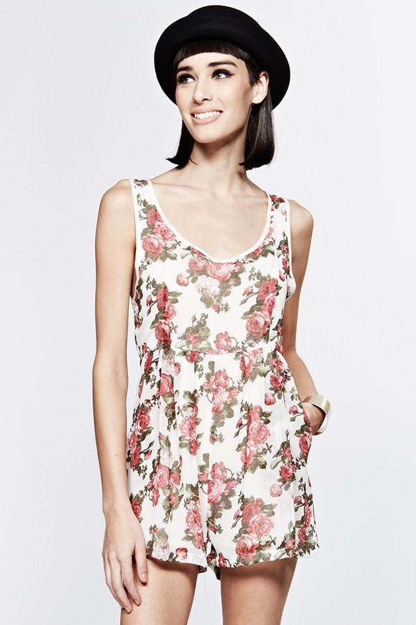 dress fashion romper floral cute romper