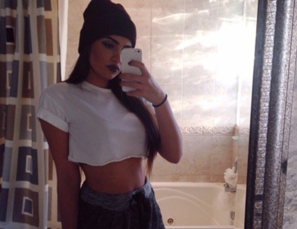 top white cropped fashion swag top crop tops pretty style