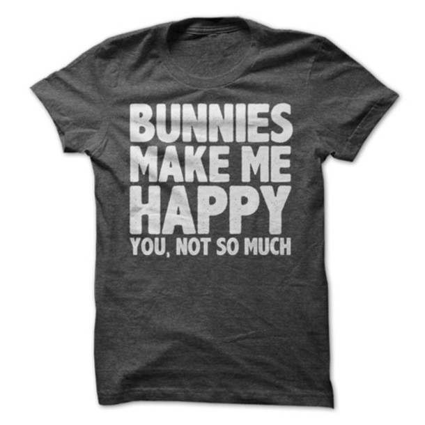 t-shirt bunnies text tee graphic tee grey t-shirt